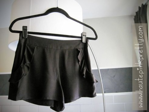Forever 21 Black Ruffle Shorts