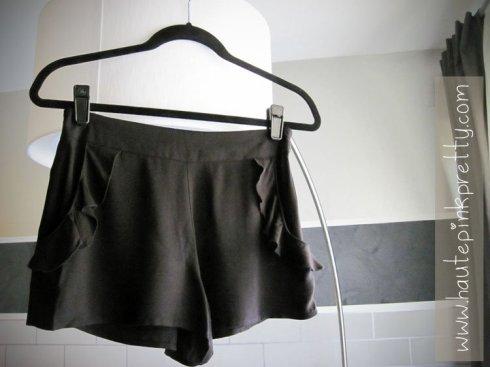 Forever 21 Black Ruffle Shorts
