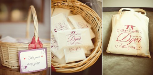 Dyer Wedding - Tears of Joy Tissue Packets, Monogram Tote Bag