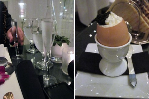Petrossian's Vodka Flutes and Egg Royale with Transmontanus Caviar