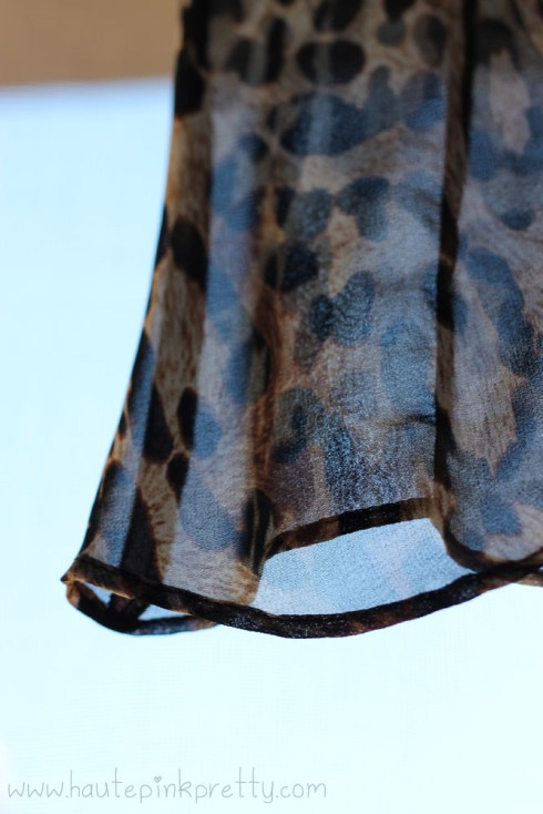 Zara Leopard Blouse with Contrasting Collar