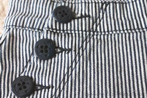 Forever 21 Striped Denim Matelot Shorts