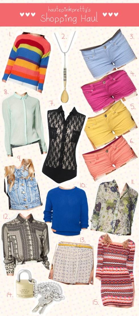 HautePinkPretty February Retail Therapy Shopping Haul 2012