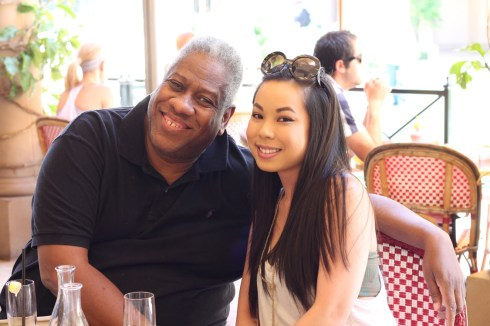 Andre Leon Talley Vogue Editor-At-Large with An Dyer personal style blogger at HautePinkPretty