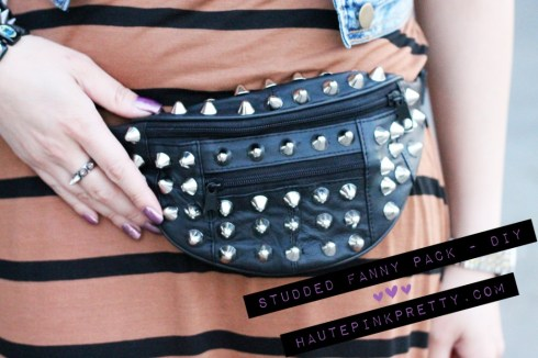 DIY Studded Fanny Pack by HautePinkPretty