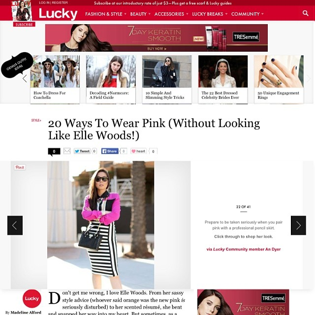 HautePinkPretty An Dyer featured in LuckyMag
