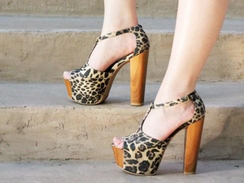 HautePinkPretty An Dyer Wearing Jessica Simpson Dany Platform Sandal in Leopard