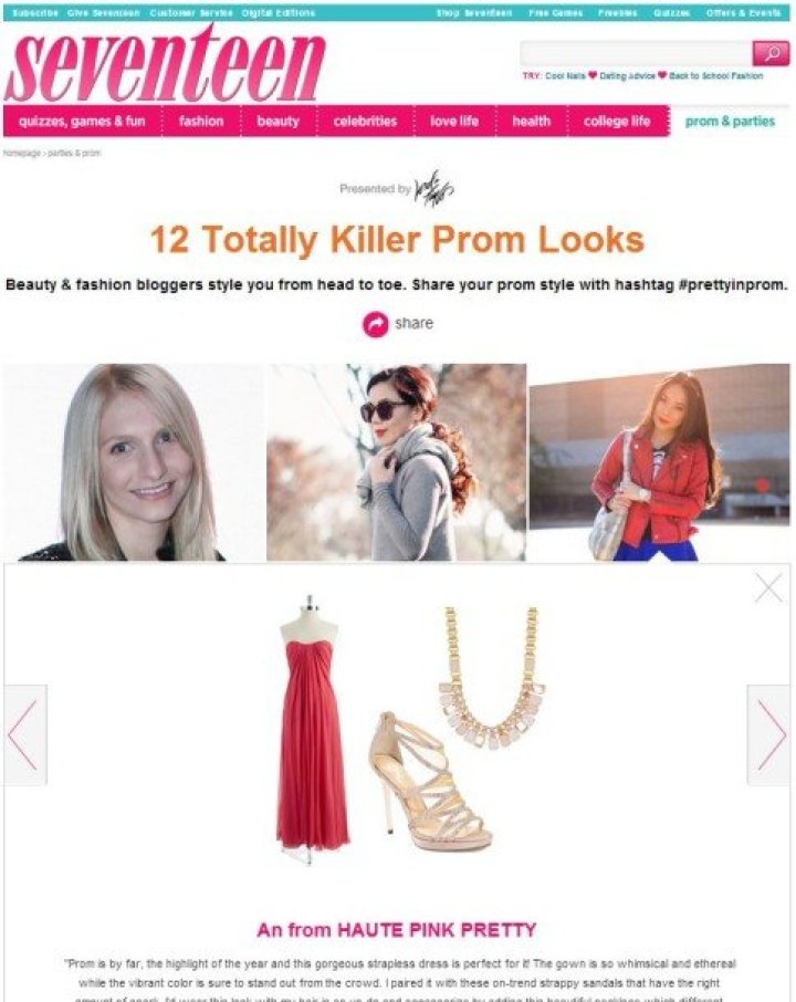 Seventeen 12 Totally Killer Prom Looks details