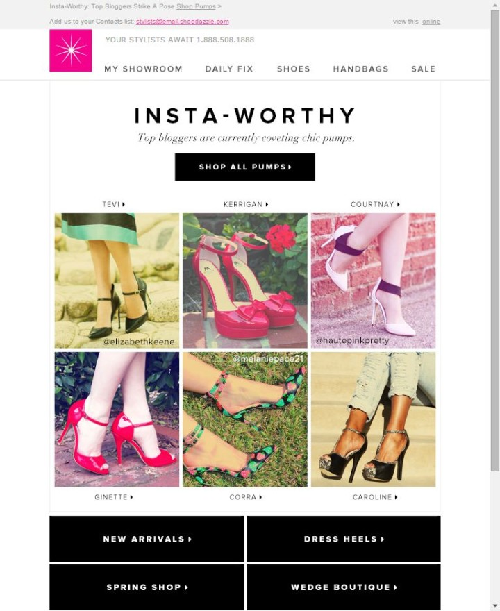 ShoeDazzle Email