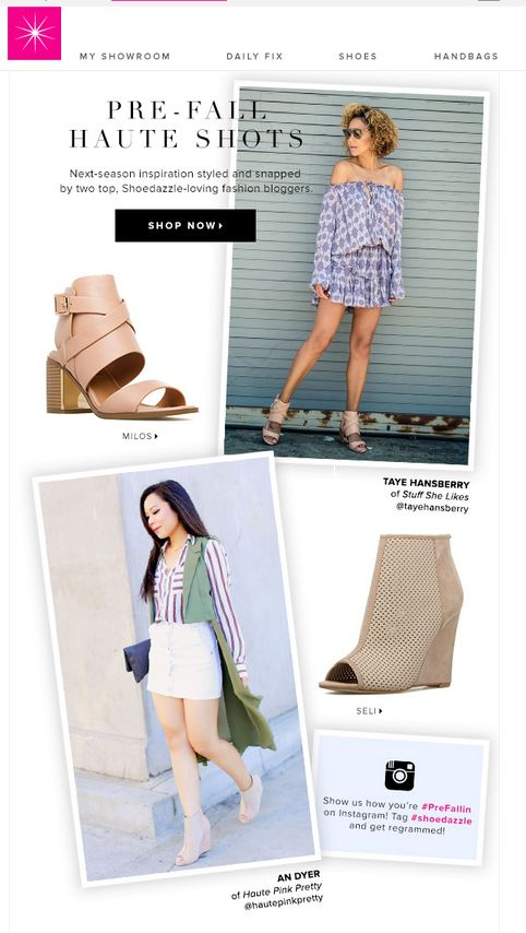 ShoeDazzle PreFallin Campaign