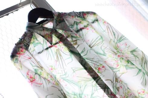 Zara Studded Silk Shirt