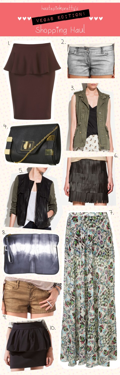 HautePinkPretty.com - Vegas Edition Shopping Haul: TopShop | Forever 21 | Zara