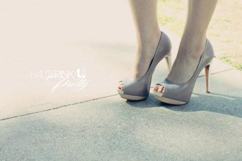 An Dyer wearing SoleSociety Tori Peeptoe Platform Shoes