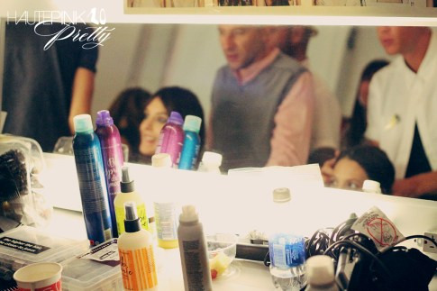 BCBGMaxazria Runway SS13 Backstage Behind the Scenes - Hair Products Bumble & Bumble
