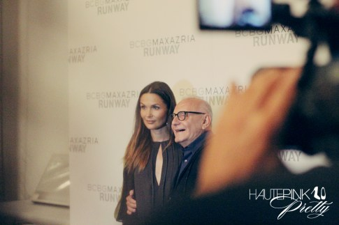 BCBGMaxazria Runway SS13 Backstage Behind the Scenes Max Azria Press Wall