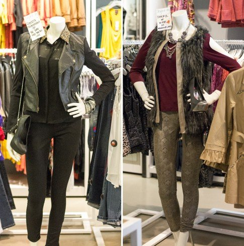 Mannequins Styled by Roberta of TheRayAndTheRo.com and Sheryl of WalkInWonderland.com