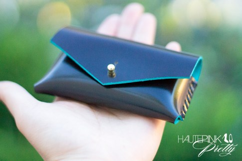 www.HautePinkPretty.com - HAUSKRFT Genuine Italian Patent Leather Envelope Style Business Card Holder