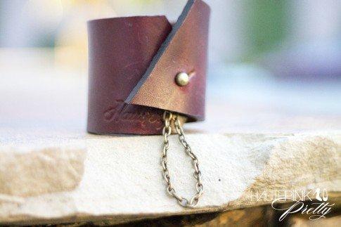 www.HautePinkPretty.com - HAUSKRFT 1 of 1 Leather Cuff