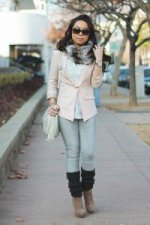 1-an-dyer-in-hm-pink-linen-blazer-forever-21-sheer-striped-ruffle-blouse-faux-fur-snood-charcoal-leg-warmers-fendi-classico-sunglasses-mellie-bianco-creme-bag-bcbgeneration-josan