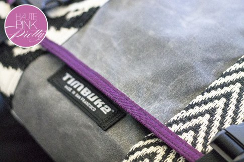 An Dyer HautePinkPretty Custom Designed Timbuk2 Messenger Laptop Bag - Waxed Canvas Grey