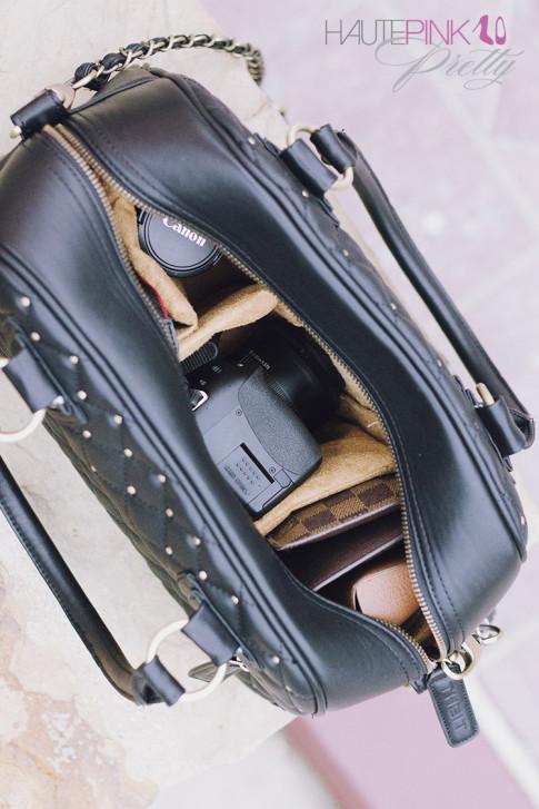 THEIT Black Studded Bossi Camera Bag