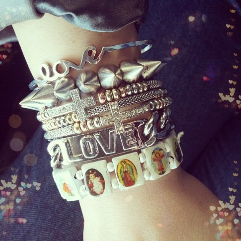 Arm swag fun with a shoutout to the man above :) all via Glint & Gleam at ShopLately