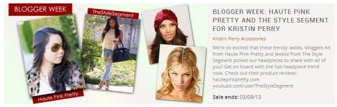 It's Blogger Week over at ShopLately! Check out the pretty Kristin Perry