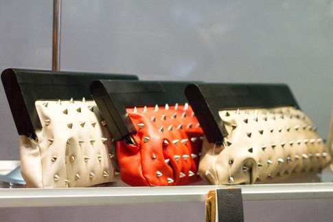 roadtoMAGIC Melie Bianco Spiked Clutches