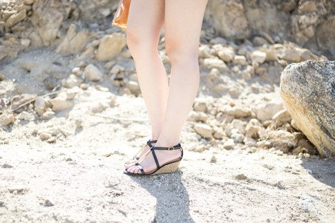 An Dyer wearing ShoeDazzle Lia
