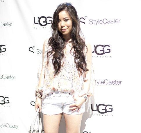 HautePinkPretty An Dyer wearing Lovers Friends LA & True Religion at the StyleCaster UGG Coachella Party LetsGetLost