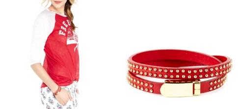 STUDDED LEATHER WRAP