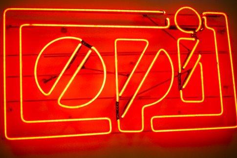 Vogue Influencers Visit OPI Headquarters - Vintage OPI Neon Sign