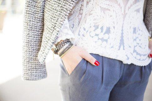 An Dyer wearing Jewel Be Mine Bracelet Set