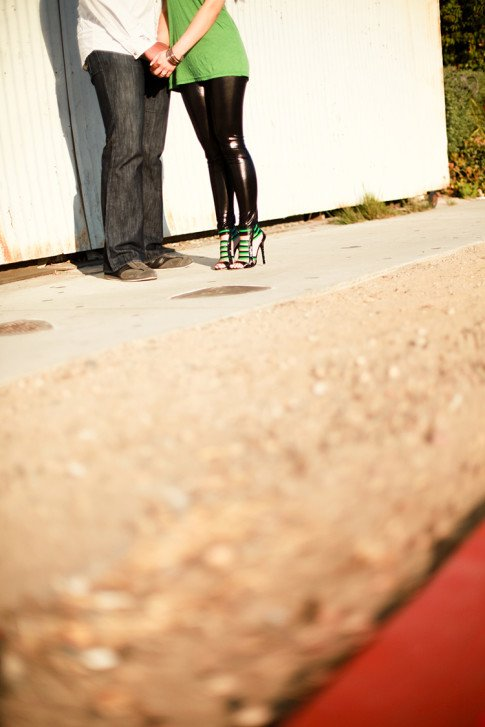 Chris & An Dyer wearing Jimmy Choo Corsica - Engagement Photos 2009 by Brandon Kidd Photography
