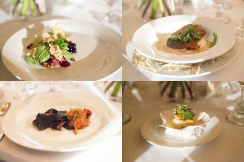 TRUFFL Fashion Dinner Courses 1 Thom Brown, 2 Ralph Lauren, 3Miuccia Prada, 4 Saint Laurent