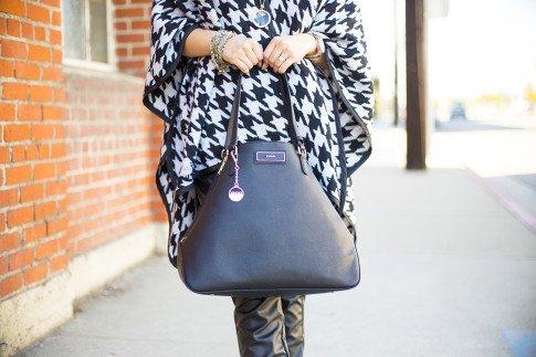 DKNY saffiano leather tote