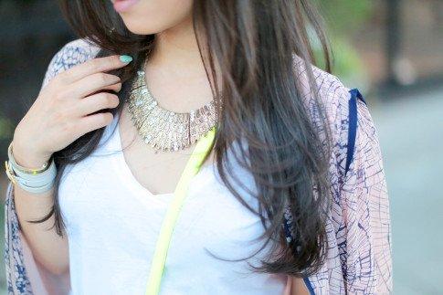 Prima donna Khaleesi Feather Bib Aged Gold Necklace