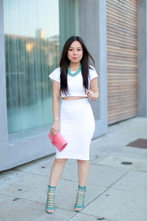 An Dyer wearing All White Street Style