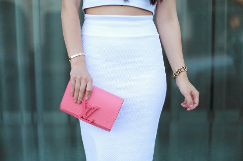 Louis Vuitton Louise Corail Clutch