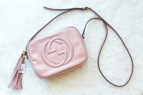 Gucci Soho Disco Bag in Nude Patent