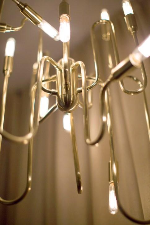 trombone brass chandelier