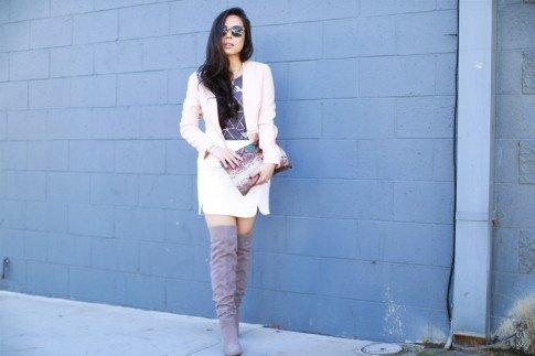 street style pastel otk boots