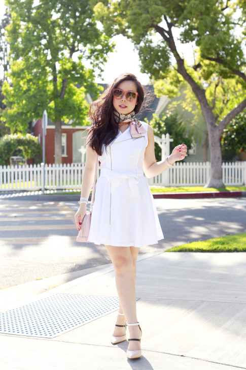 An Dyer wearing Spring Dress