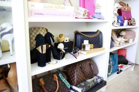 Decor Coveteur closet styling chanel boy bag