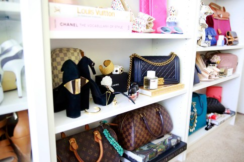 Decor Coveteur closet styling chanel boy bag
