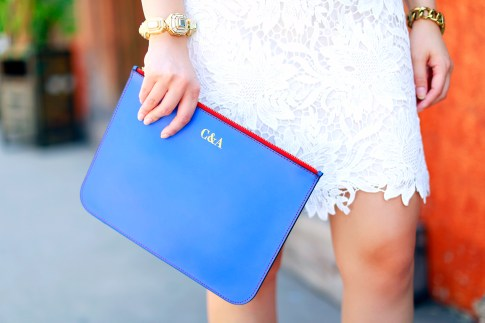 Blue Personalized Clutch