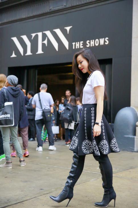 An Dyer Desigual SS16 NYFW Street Style