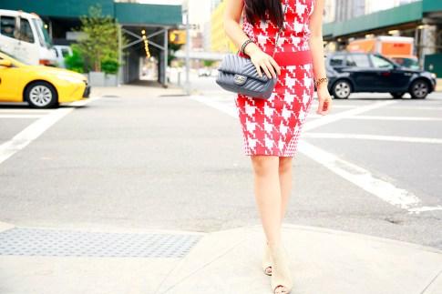 An Dyer NYFw StreetStyle Chanel Brooch Chevron Flap, Vassallo Houndstooth