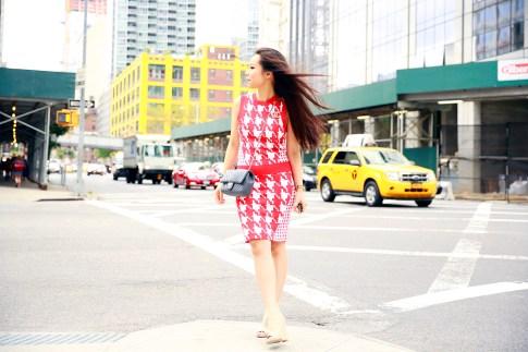 An Dyer New York Fashion Week SS16 StreetStyle Chanel Brooch Chevron Flap, Vassallo Houndstooth