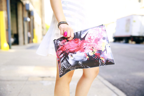 Porte Mode Punk Hair Clutch
